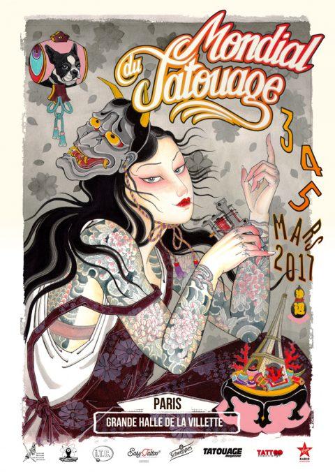 Mondial du tatouage 2017 à Paris